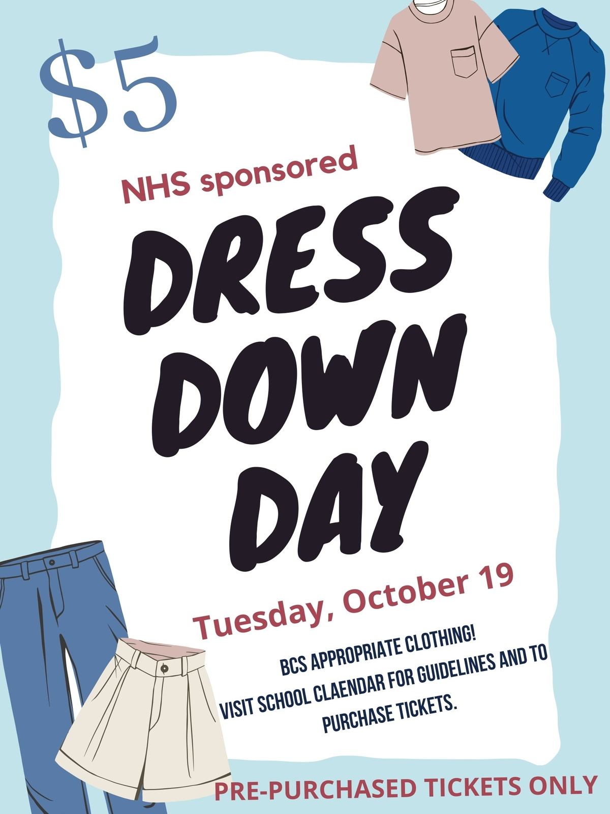 NHS Dress Down Day for ALL BCS Students