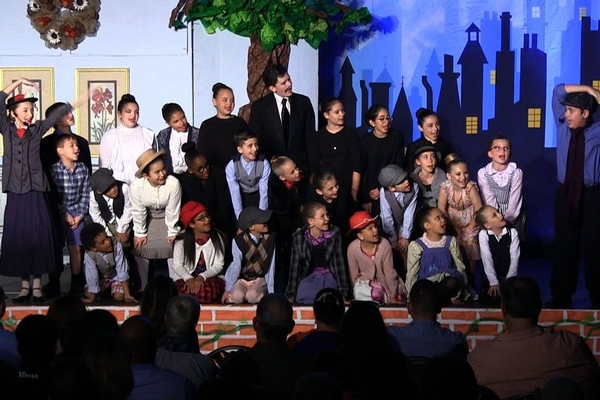 bcs students perform mary poppins